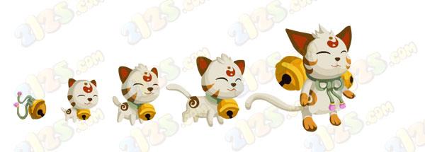 橡皮章素材铃猫