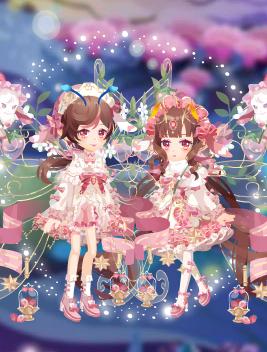 草莓兔兔套装